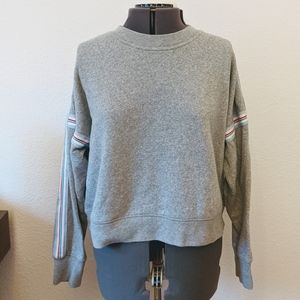 J. Crew Fleece Sweatshirt with Stripes
